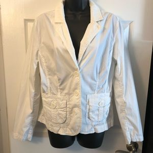 Sonoma white cotton blazer jacket sz large
